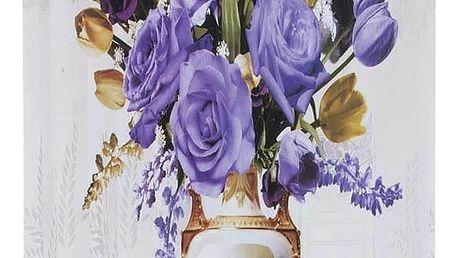 Obraz na stěnu - Žlutá a fialová kytice