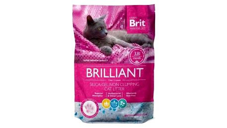 Kočkolit Brit Care Brilliant Silica - Gel 3,8l