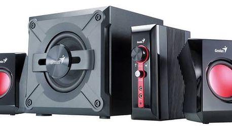 Reproduktory Genius GX Gaming SW-G2.1 1250 (31730980100) černá/červená + Doprava zdarma