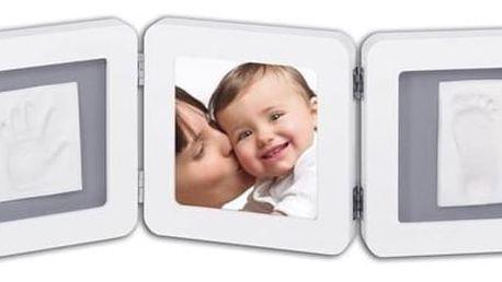 Sada pro otisk Baby Art Rámeček Double Print Frame White & Grey + Doprava zdarma
