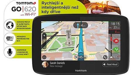 Navigační systém GPS Tomtom GO 620 World, Wi-Fi, LIFETIME mapy (1PN6.002.01) černá + DOPRAVA ZDARMA