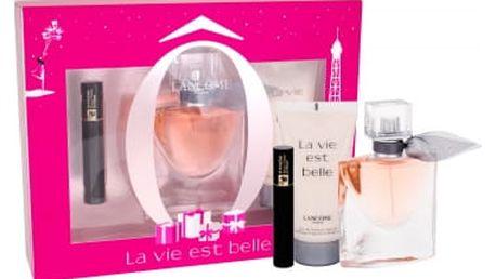 Lancome La Vie Est Belle dárková kazeta pro ženy parfémovaná voda 30 ml + tělové mléko 50 ml + řasenka Hypnose Noir Hypnotic 2 ml