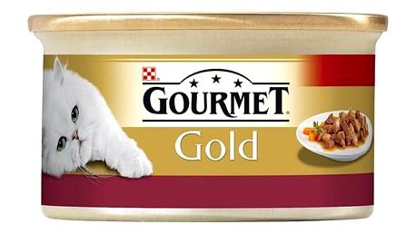 Konzerva Gourmet Gold s kuřecím a játry 85g