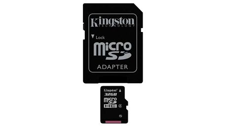 Paměťová karta Kingston 32GB Class4 + adapter (SDC4/32GB)