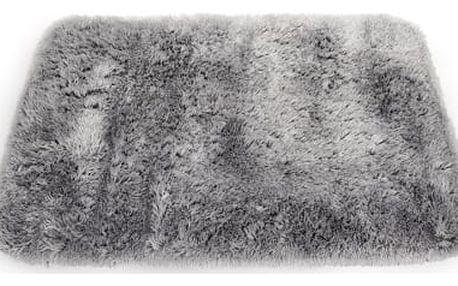 Sametově hebký koberec do koupelny světle šedý