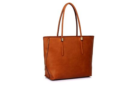 Koňakově hnědá kabelka z eko kůže L&S Bags Truda - doprava zdarma!