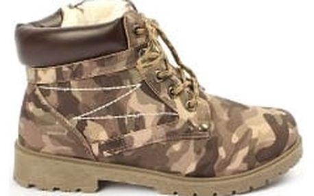 Zateplené dámské kotníkové boty FASHION ARMY