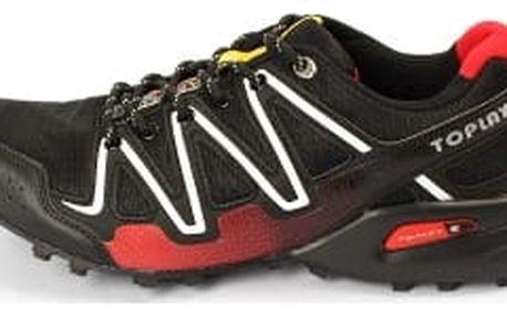 Kvalitní pánské běžecké boty TOP PLAY černo/červené