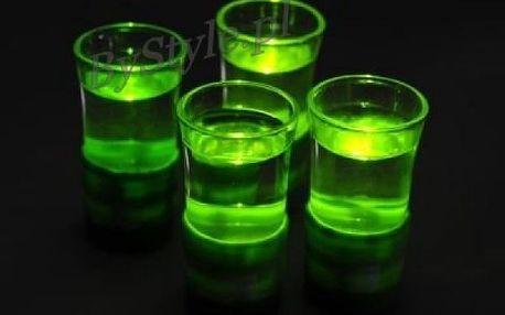 Zelené radioaktivní svítící panáky