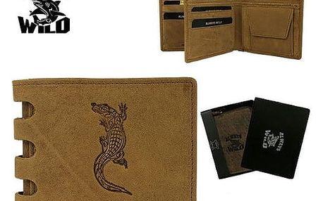 Pánská peněženka z pravé kůže ALWAYS WILD BOX TAN CROCODILE