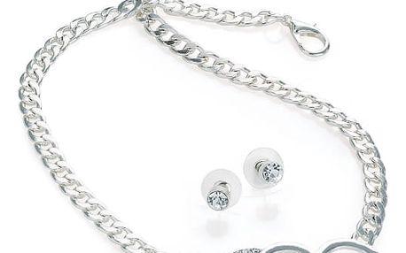 SET: Náhrdelník a náramek ve stříbrné barvě Emma 30662