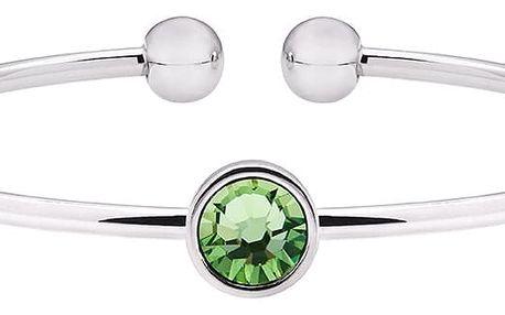 Náramek se zeleným krystalem Swarovski® GemSeller - doprava zdarma!