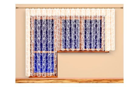 4Home Záclona Terezie, 350 x 175 cm, 350 x 175 cm