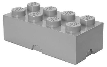 Šedý úložný box LEGO® - doprava zdarma!