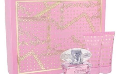 Versace Bright Crystal dárková kazeta pro ženy toaletní voda 50ml + tělové mléko 50 ml + sprchový gel 50 ml