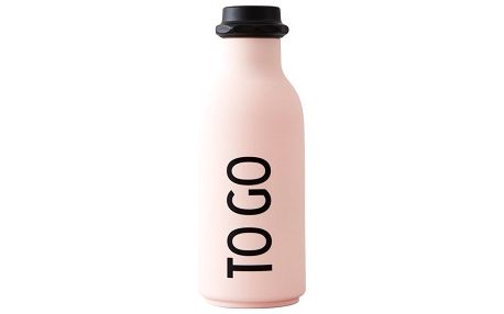 DESIGN LETTERS Lahev na vodu To Go Pink 500ml, béžová barva, plast