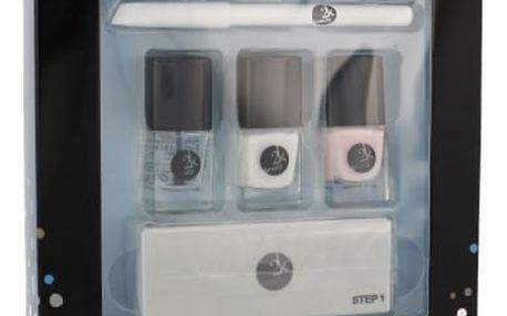 2K Let´s Get Colourful! lak na nehty dárková sada W - lak na nehty 3x 5 ml + tužka na nehty 2 g + pilník na nehty 1 ks