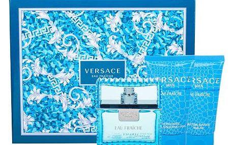 Versace Man Eau Fraiche EDT dárková sada M - EDT 50 ml + sprchový gel 50 ml + balzám po holení 50 ml