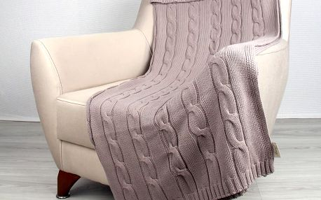 Béžová bavlněná deka Homemania Couture, 170x130cm - doprava zdarma!