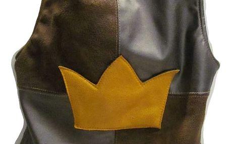 Maileg Rytířské brnění Crown, vel. 4-6, hnědá barva, textil