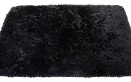 Sametově hebký koberec do koupelny černý