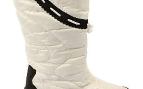 Kvalitní dámské sněhule s kožíškem bílé