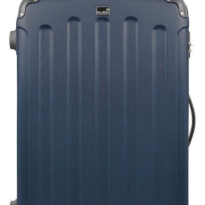 Modrý cestovní kufr na kolečkách Blue Star Madrid,60l - doprava zdarma!