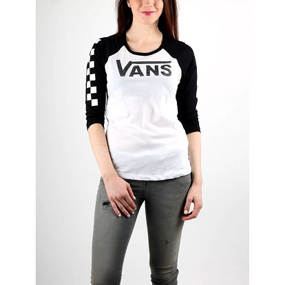 Tričko Vans WM BIG FUN RAG White/Black Bílá