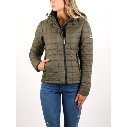 Bunda Superdry BOX QUILT FUJI JACKET Zelená
