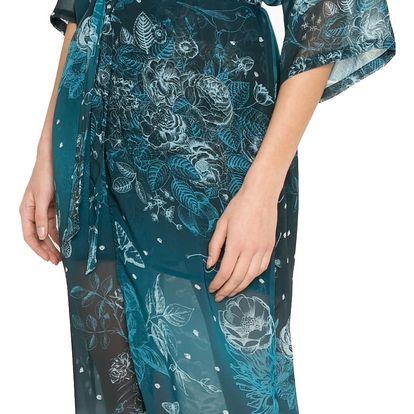 Desigual tmavě modrý župánek Kimono Dark Floral