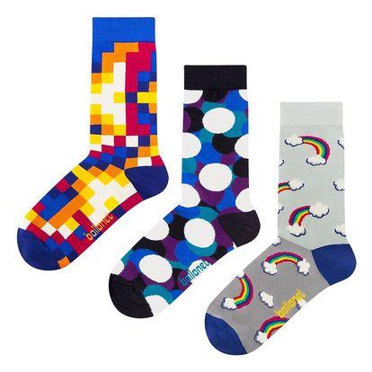 Dárková sada ponožek Ballonet Socks Bubbles, velikost 36-40