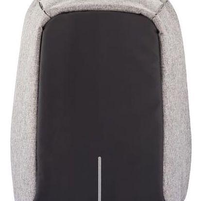 Šedý bezpečnostní batoh XD Design Bobby - doprava zdarma!