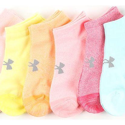 Ponožky Under Armour Essential Cotton Ns 6Pk Barevná