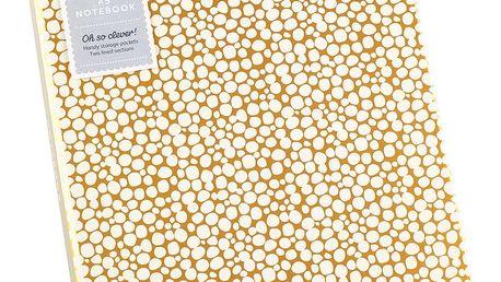 Zápisník A5 ve zlaté barvě s přihrádkou Busy B