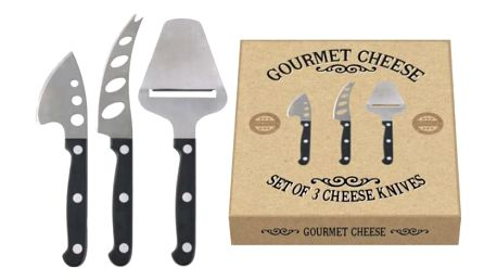 Sada 3 nožů na sýry Creative Tops Gourmet Cheese