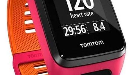 GPS hodinky Tomtom Runner 3 Cardio (S) (1RK0.001.02) růžové/oranžové + Doprava zdarma