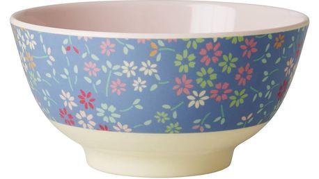 rice Melaminová miska Wild Flower, modrá barva, melamin