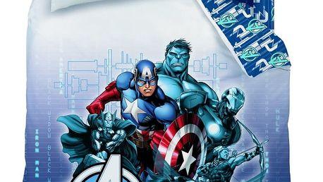 CTI Dětské bavlněné povlečení Avengers Blue Code, 140 x 200 cm, 70 x 90 cm