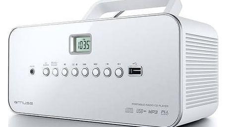 Radiopřijímač s CD MUSE M-28 RDW bílý + Doprava zdarma