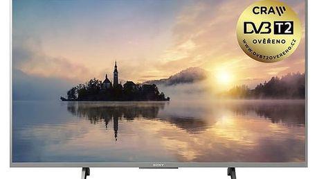 Televize Sony KD-43XE7077S stříbrná + DOPRAVA ZDARMA