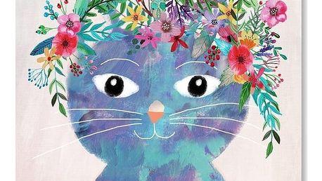 Plakát od Mia Charro - Flower Cat II