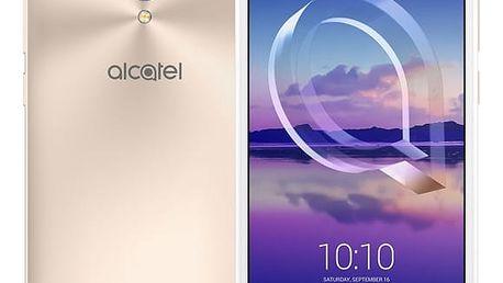 Mobilní telefon ALCATEL U5 HD 5047U Premium Dual SIM (5047U-2DALE11) zlatý + DOPRAVA ZDARMA