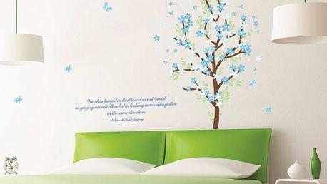 Samolepka Fanastick Blue Leaves Tree