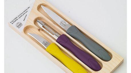 3dílná sada nožíků a škrabky v dřevěné krabičce Jean Dubost