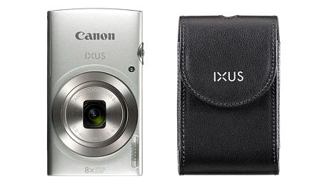 Digitální fotoaparát Canon 185 + orig.pouzdro (1806C010) stříbrný