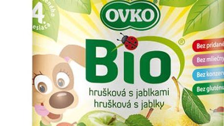 6x OVKO BIO Hruška s jablky 190g – ovocný příkrm