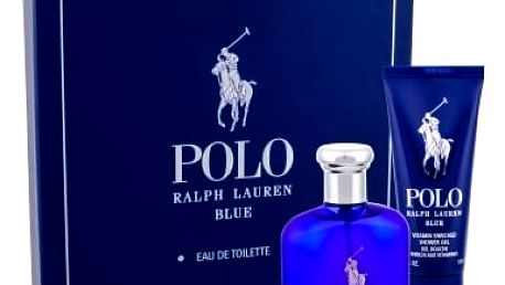 Ralph Lauren Polo Blue dárková kazeta pro muže toaletní voda 75 ml + sprchový gel 100 ml
