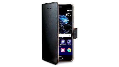 Pouzdro na mobil flipové Celly Wally pro Huawei P10 (WALLY644) černé + Doprava zdarma