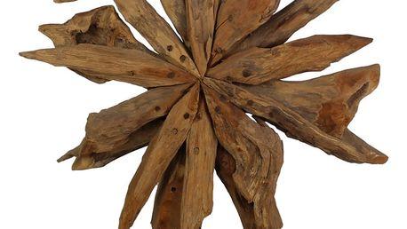 Dekorace z teakového dřeva HSM Collection Sunflower, 40x50cm - doprava zdarma!