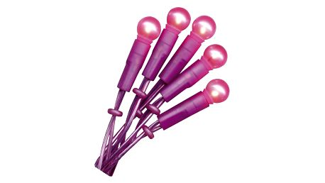 STAR TRADING Světelný řetěz Fuchsia, růžová barva, fialová barva, plast